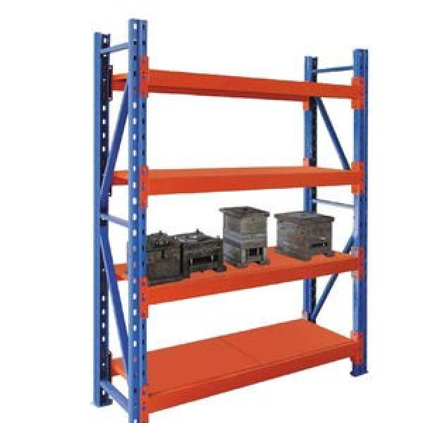Industrial Medium Duty Adjustable Steel Metal Warehouse Storage Tire Shelf with Long Span #3 image