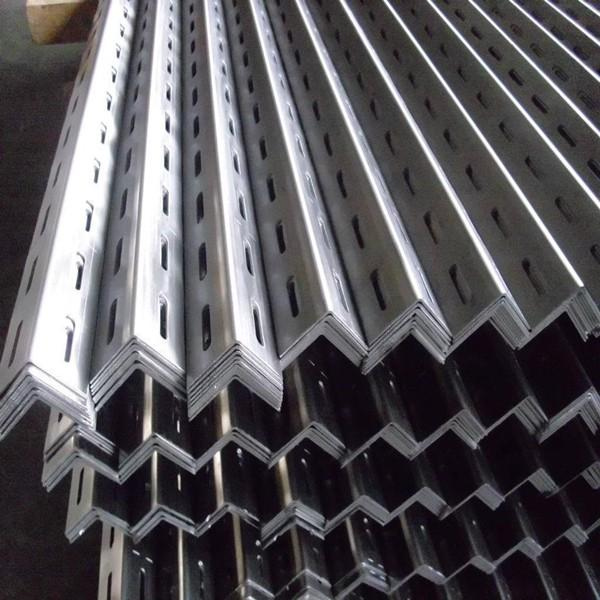 Light Duty Oval Horizontal and Vertical Holes Slotted Angle Iron Rack #3 image
