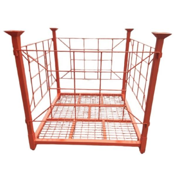 Heavybao Commercial Kitchen Metal Stainless Steel Tube Four-Layer Grid Storage Rack #3 image