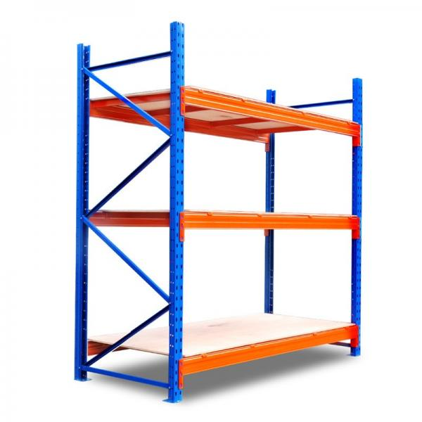 Heavy Duty Stacking Galvanized Warehouse Storage Mezzanine Cantilever Teardrop Shelf Metal Steel Shuttle Rack #3 image