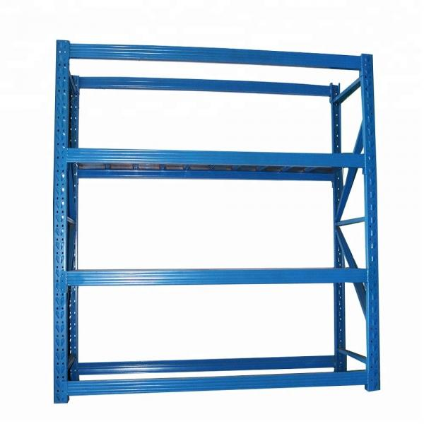Heavy Duty Industry Display Selective Stacking Galvanized Mezzanine Cantilever Warehouse Storage Metal Shelf Pallet Steel Cargo Rack #1 image