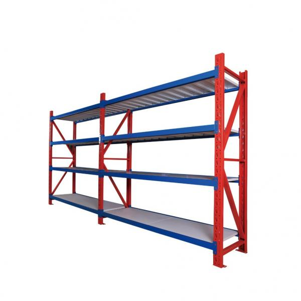 Adjustable Easy Install Industrial 4 Layers Warehouse Commercial Shelving Metal Rack Shelves #3 image