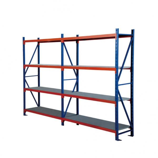 Adjustable Easy Install Industrial 4 Layers Warehouse Commercial Shelving Metal Rack Shelves #2 image
