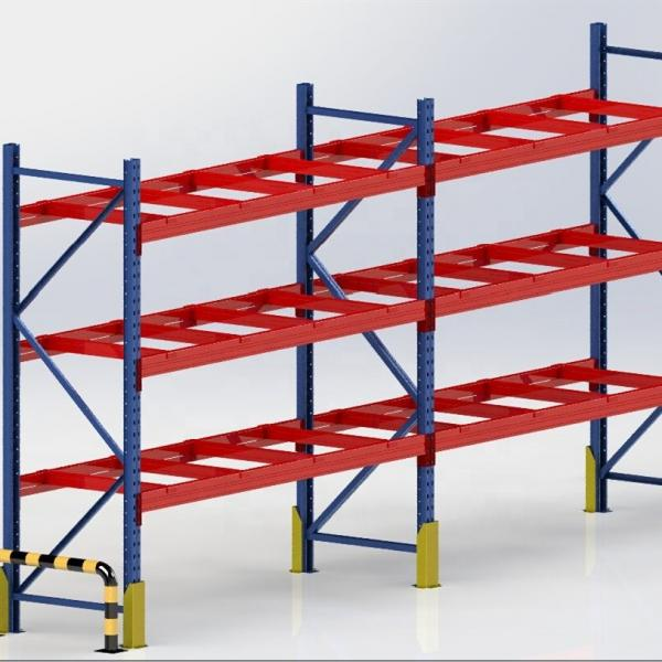 Warehouse Storage Heavy Duty Galvanized Metal Shelf Steel Pallet Racking #3 image