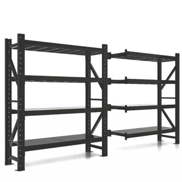 Heavybao Commercial Kitchen Metal Stainless Steel Tube Four-Layer Grid Storage Rack #1 image
