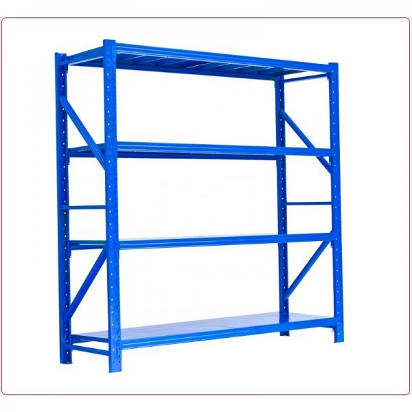 5 Tiers Galvanized Warehouse Rolling Metal Shelf #1 image