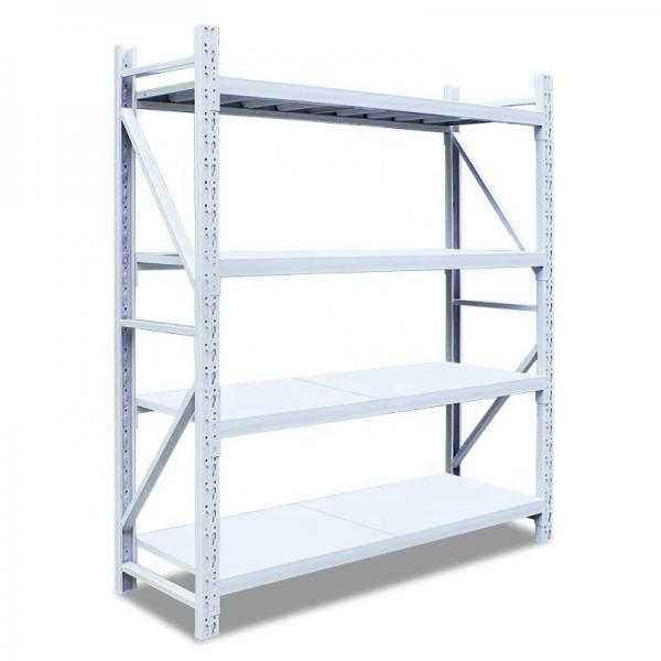 5 Tiers Galvanized Warehouse Rolling Metal Shelf #3 image